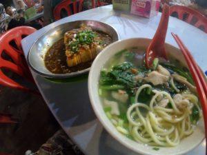 チャンポンと豆腐