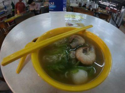 ゴーヤとエビのスープ麺