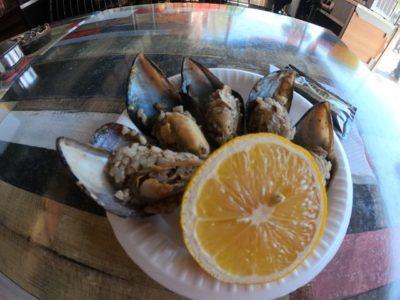 ムール貝の米詰め